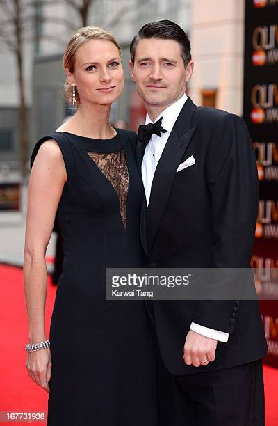 Clare Harding and Tom Chambers attend The Laurence Olivier Awards at The Royal Opera House on April 28 2013 in London England