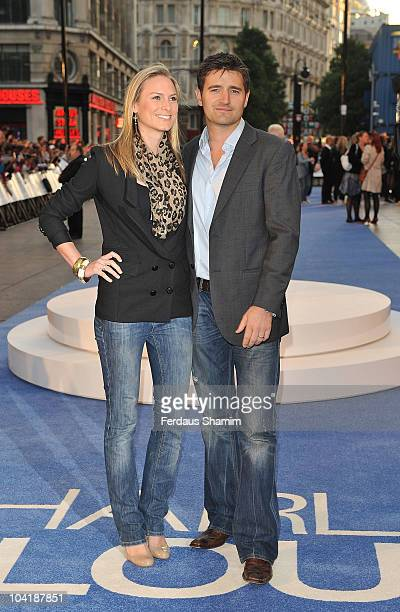 Clare Harding and Tom Chambers attend the UK premiere of 'The Death and Life of Charlie St. Cloud' at Empire Leicester Square on September 16, 2010...