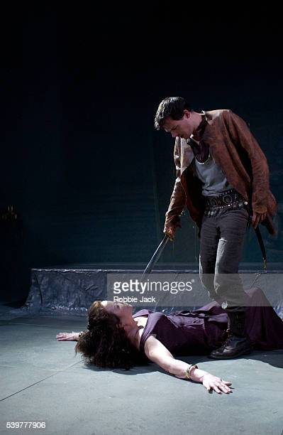 Clare Higgins and Ben Meyjes in the production 'Phaedra' at the Donmar in London