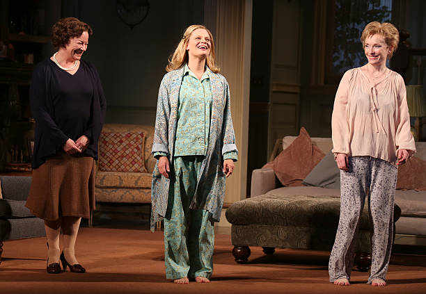 Clare Higgins, Martha Plimpton and Lindsay Duncan during a tearful Opening Night Curtain Call for 'A Delicate Balance' with a 'Happy Trails to You'...