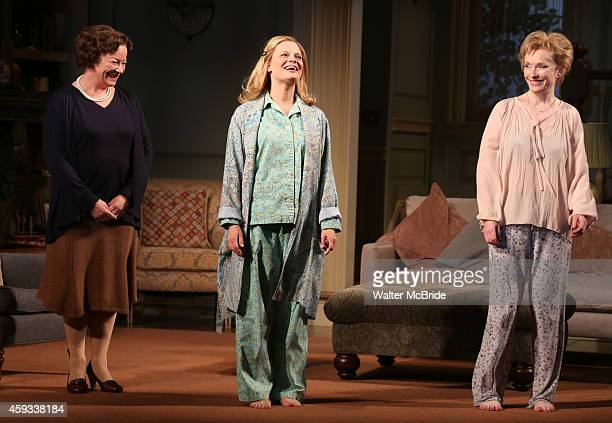 Clare Higgins Martha Plimpton and Lindsay Duncan during a tearful Opening Night Curtain Call for 'A Delicate Balance' with a 'Happy Trails to You'...