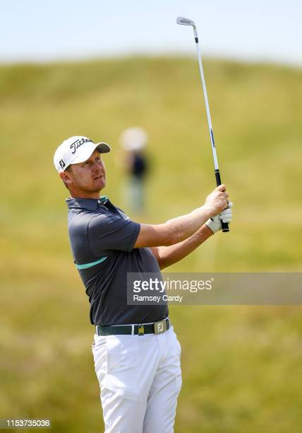 Clare , Ireland - 4 July 2019; Justin Harding of South Africa watches his shot during day one of the 2019 Dubai Duty Free Irish Open at Lahinch Golf...