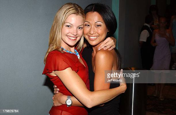 Clare Kramer and Nicole Bilderback during Premiere of Dimensions Films Halloween Resurrection in Los Angeles California United States
