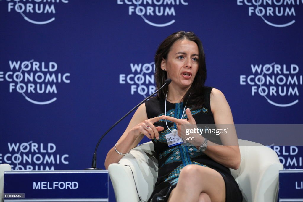 Clare Melford, Chief Executive Officer of International Business Leaders Forum(IBLF), attends the interactive session 'Chinese Globalizers - Connecting through Corporate Global Citizenship' during the 2012 Tianjin Summer Davos at Meijiang Convention and Exhibition Center on September 13, 2012 in Tianjin, China. World Economic Forum 2012 Tianjin Summer Davos will be held from September 11 to 13, with the theme of 'Creating the Future Economy'.