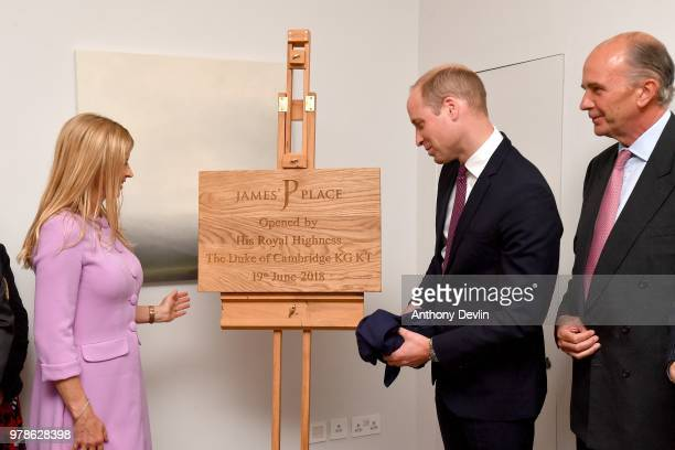 Clare Milford Haven lookson as The Duke of Cambridge unveils a plaque during a visit to James' Place in Liverpool on June 19 2018 in Liverpool...