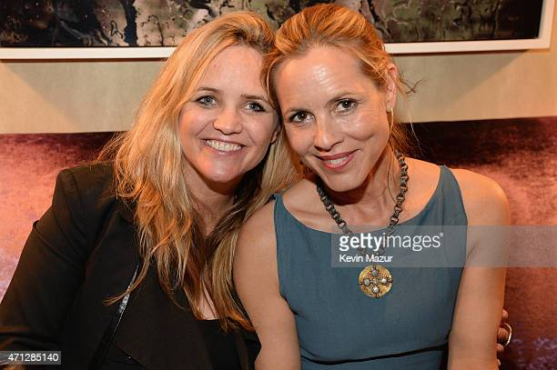 Clare Munn and Maria Bello attend the Maria Bello 'WhateverLove Is Love' Book Party on April 26 2015 in New York City