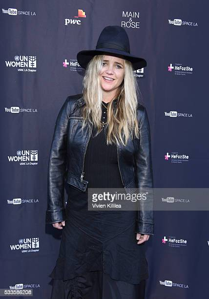 Clare Munn attends the UN Women USNC LA Media Summit in support of #HeForShe at YouTube Space LA at YouTube Space LA on May 21 2016 in Los Angeles...