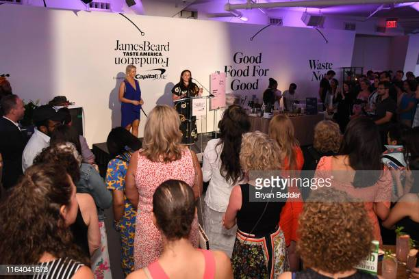 Clare Reichenbach and Lauren Liss speak onstage during The James Beard Foundation kicks off the 201920 Taste America presented by official banking...