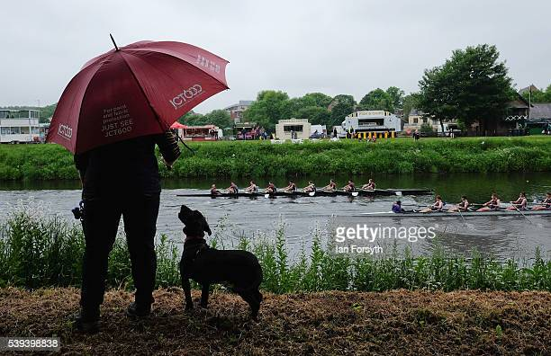 Clare Richardson stands and watches from the riverbank as rowers from across the country take part in the 183rd annual regatta on the River Wear on...