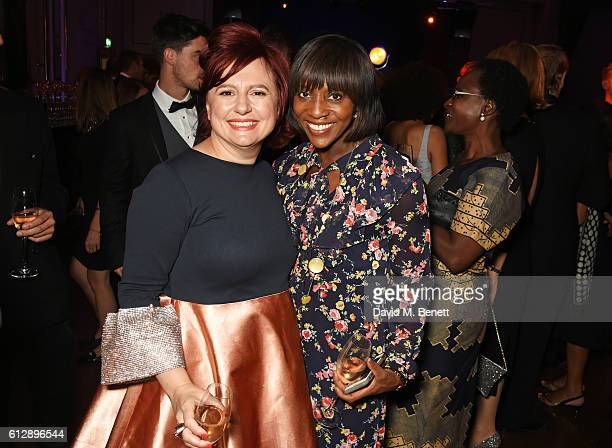 "Clare Stewart and Brenda Emmanus attend the ""A United Kingdom"" Opening Night Gala after party during the 60th BFI London Film Festival at Victoria..."