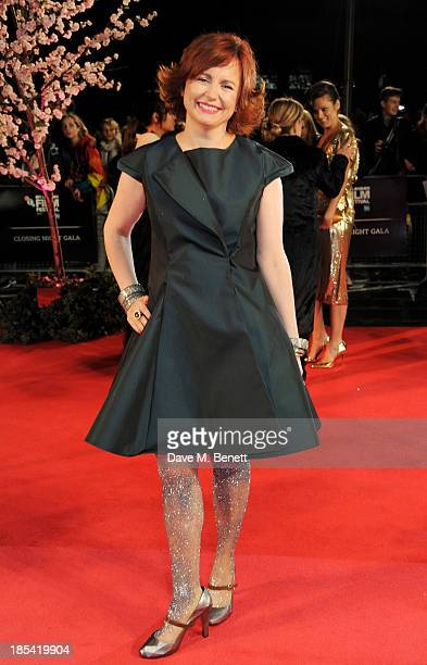 "Clare Stewart attends the Closing Night Gala European Premiere of ""Saving Mr Banks"" during the 57th BFI London Film Festival at Odeon Leicester..."