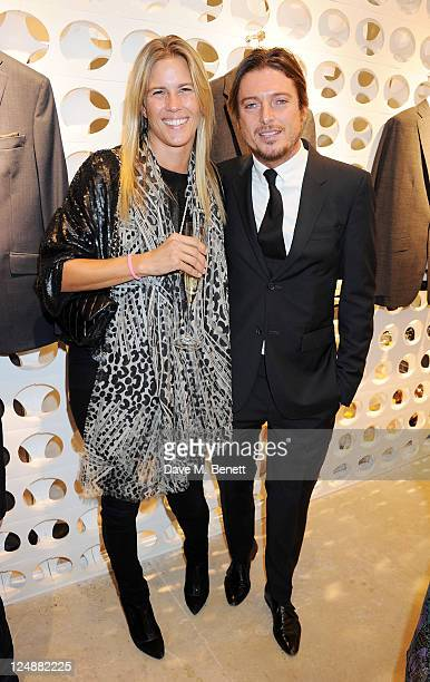 Clare Strowger and Darren Strowger attend the opening of the new Spencer Hart shop on September 13 2011 in London England