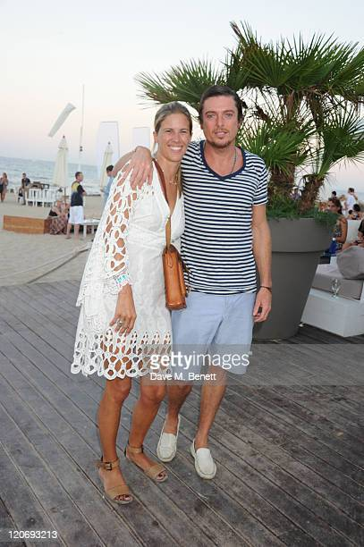 Clare Strowger and Darren Strowger attends the Teenage Cancer Trust party and auction at El Chiringuito in Es Cavellet on August 07 2011 in Ibiza...