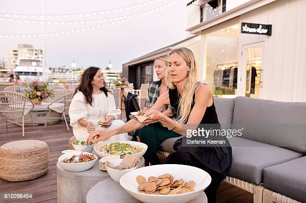 Clare Vivier Ali Taekman and Jessica De Ruiter attend Jenni Kayne and Clare Vivier celebrate the opening of their stores at Lido Marina Village in...