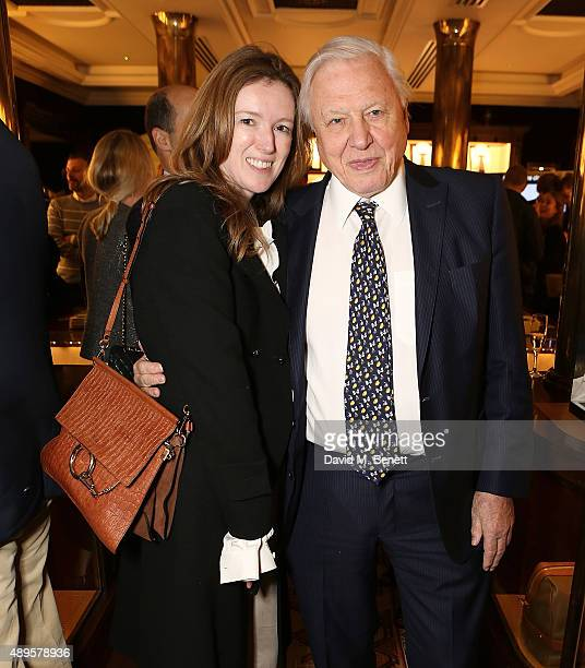 Clare Waight Keller and Sir David Attenborough attends The World Land Trust screening of 'The Orchids of Banos' supported by Alfred Dunhill on...