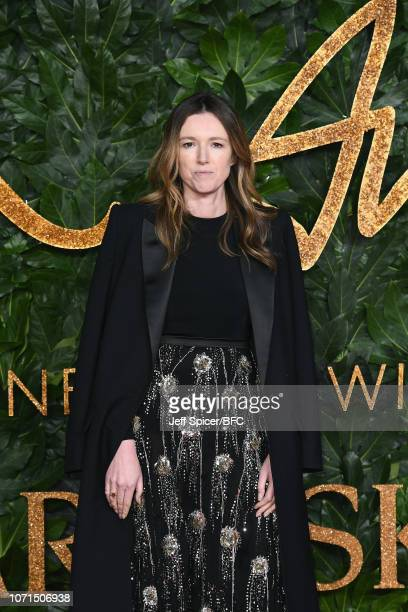 Clare Waight Keller arrives at The Fashion Awards 2018 In Partnership With Swarovski at Royal Albert Hall on December 10 2018 in London England