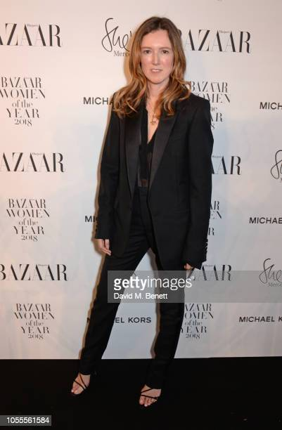 Clare Waight Keller attends the Harper's Bazaar Women Of The Year Awards 2018 in partnership with Michael Kors and MercedesBenz at Claridge's Hotel...