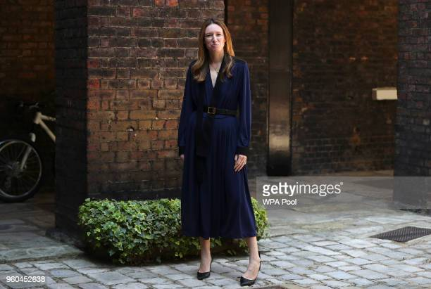Clare Waight Keller designer at Givenchy poses for a portrait the day after the Duchess of Sussex walked down the aisle of St George's Chapel in...