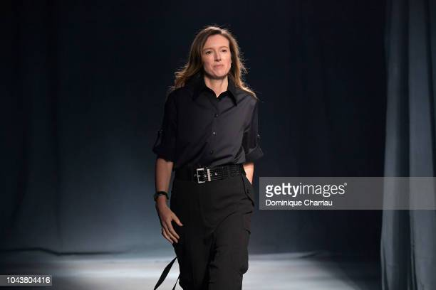 Clare Waight Keller walks the runway during the Givenchy show as part of the Paris Fashion Week Womenswear Spring/Summer 2019 on September 30, 2018...