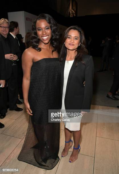 ClareHope Ashitey and Veena Sud attend Netflix's 'Seven Seconds' Premiere screening and postreception in Beverly Hills CA on February 23 2018 in...