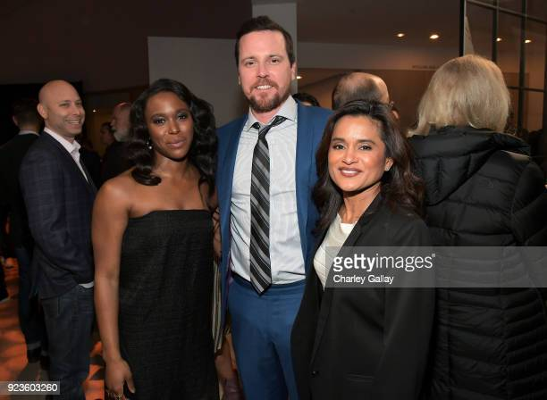 ClareHope Ashitey Michael Mosley and Veena Sud attend Netflix's 'Seven Seconds' Premiere screening and postreception in Beverly Hills CA on February...