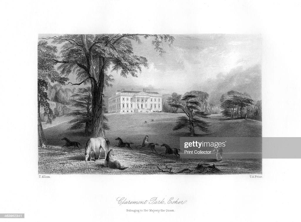 Claremont Park, Esher, Surrey, 19th century.Artist: TA Prior : News Photo