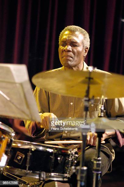Clarence Becton performs live on stage at Bimhuis in Amsterdam, Netherlands on February 16 2004 as part of Americans play for Democracy