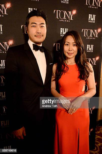 Clarence Chia and Alyssa Chia attend FIJI Water at 2016 Tony Awards at The Beacon Theatre on June 12 2016 in New York City
