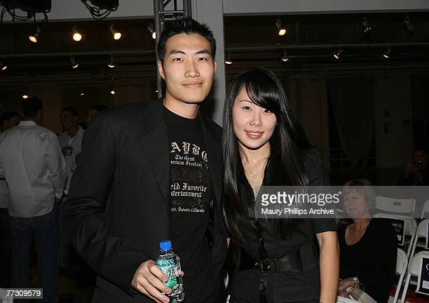 Clarence Chia and Alyssa Chia attend the Arden B and LA Confidential Magazine fashion show on October 4 2007 at the cooper building in Los Angeles...