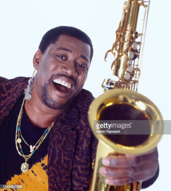 Clarence Clemons poses for a portrait in October 1989 in Los Angeles California