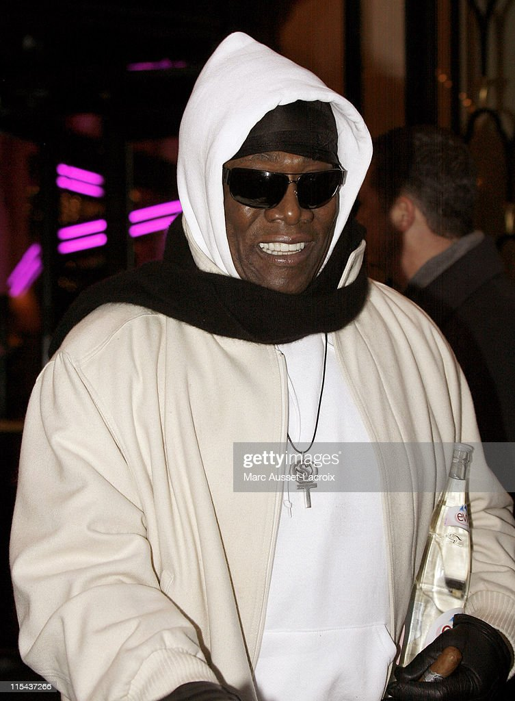 Clarence Clemons, 'The Big Man,' saxophonist of the E Street Band, seen leaving the Four Seasons Hotel on December 17, 2007 in Paris, France.