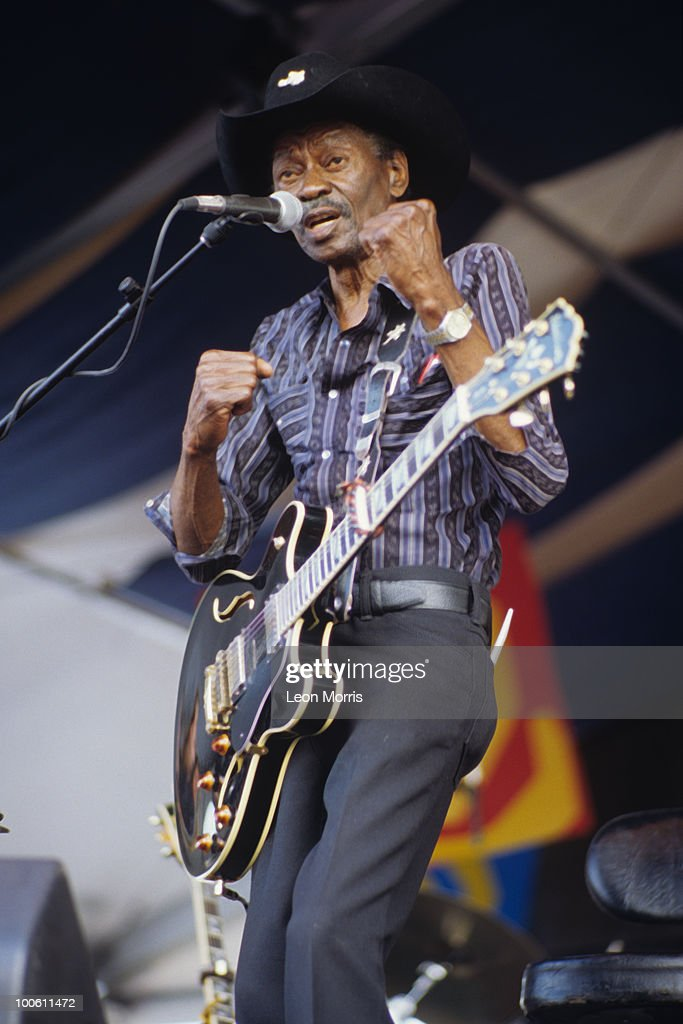 Clarence 'Gatemouth' Brown performs on stage at the New Orleans Jazz and Heritage Festival in New Orleans, Louisiana on May 04, 1996.