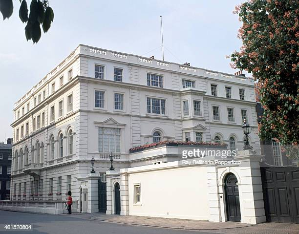 Clarence House on The Mall in London former royal residence of Queen Elizabeth The Queen Mother and now the official residence of Prince Charles and...