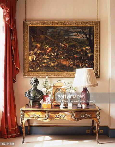 Clarence House - The Official London Residence Of Prince Charles, The Prince Of Wales. A Corner Of The Garden Room At Clarence House With Leandro...