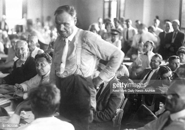 Clarence S Darrow Famous chicato Lawyer is shown consulting with Judge Raulston about procedure during the trial of John T Scopes at Dayton Tenn He...