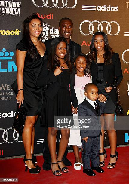 Clarence Seedorf and his family attend ''Champions For Children'' First Annual Gala held at Castello Sforzesco on April 8 2010 in Milan Italy