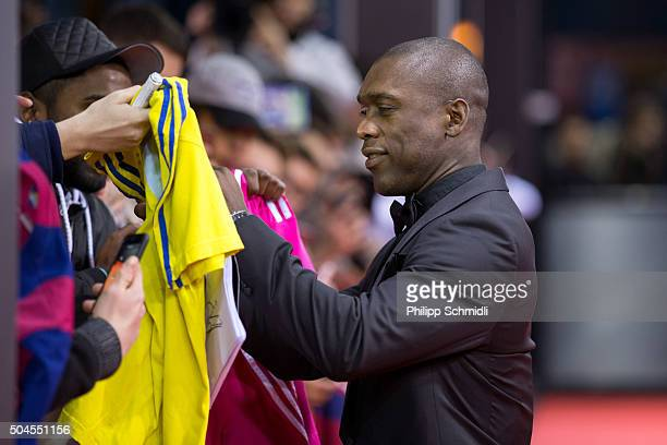 Clarence Seedorf arrives for the FIFA Ballon d'Or Gala 2015 at the Kongresshaus on January 11 2016 in Zurich Switzerland