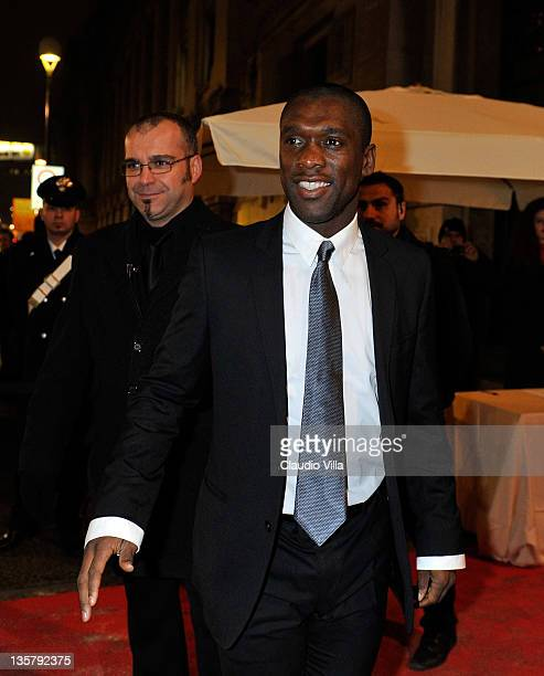 Clarence Seedorf attends the AC Milan Christmas Party at the Royal Pavilion at the Central Station on December 14 2011 in Milan Italy