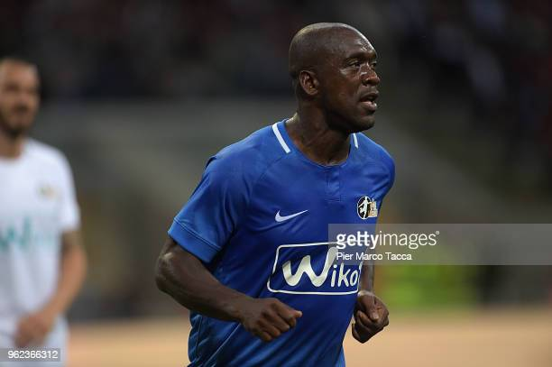Clarence Seedorf looks during Andrea Pirlo Farewell Match at Stadio Giuseppe Meazza on May 21 2018 in Milan Italy