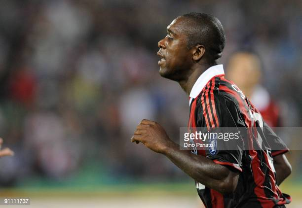 Clarence Seedorf of AC Milan in action during the serie A match between Udinese Calcio and AC Milan at Stadio Friuli on September 23, 2009 in Udine,...