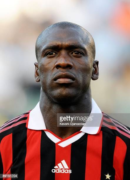 Clarence Seedorf of AC Milan looks on during the friendly soccer match against Los Angeles Galaxy at The Home Depot Center on July 19 2009 in Carson...