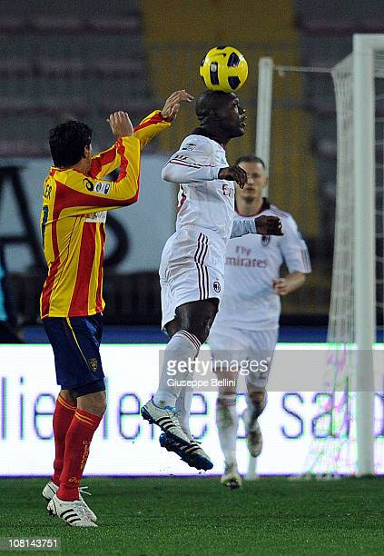 Clarence Seedorf of Milan in action during the Serie A match between Lecce and Milan at Stadio Via del Mare on January 16 2011 in Lecce Italy