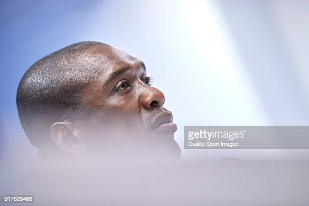 Clarence Seedorf the manager of Deportivo de La Coruna looks on during press conference after the La Liga match between Deportivo La Coruna and Real...