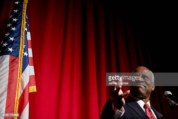 Clarence Thomas, Associate Justice of the United States Supreme Court, speaks at a Heritage Foundation luncheon in New York City.