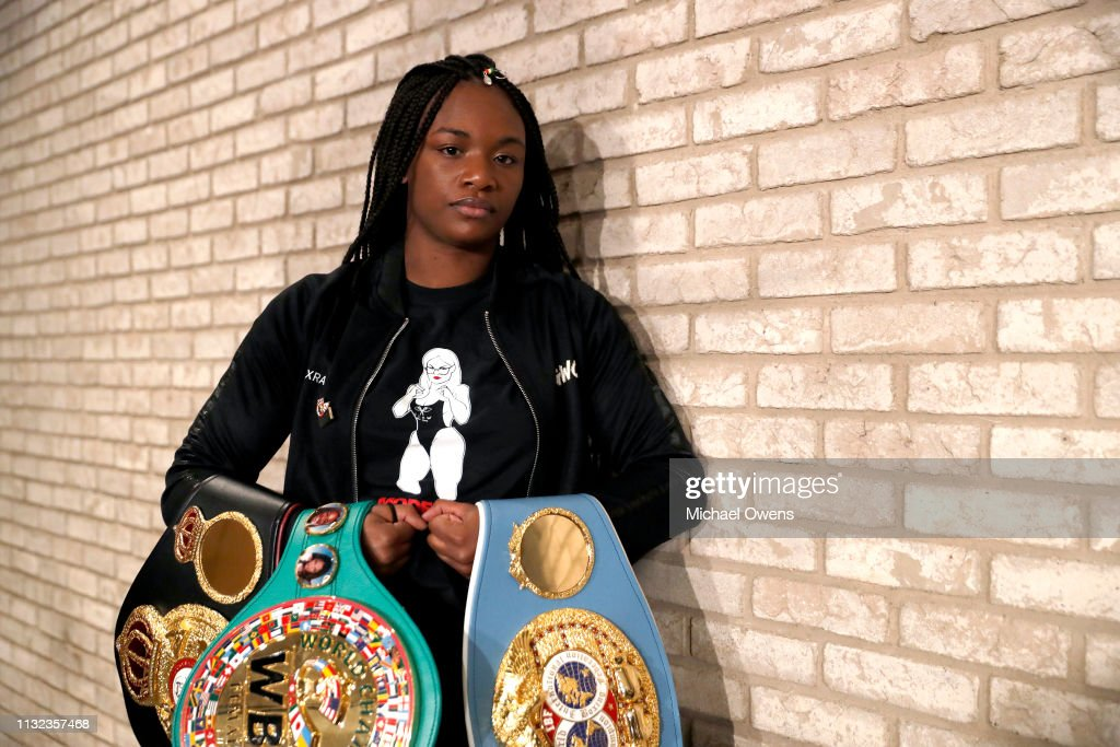 Claressa Shields v Christina Hammer - Press Conference : Nachrichtenfoto