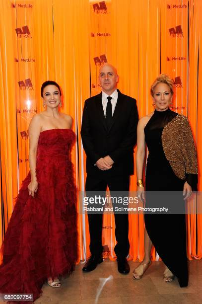 Clarice Oliveira Tavares Patrick Charpenel and Maria Eugenia Maury attends the El Museo Gala 2017 at The Plaza Hotel on May 11 2017 in New York City