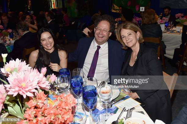 Clarice Tavares Adam Weinberg and Estrellita Brodsky attend the Studio in a School 40th Anniversary Gala at Seagram Building Plaza on May 3 2017 in...