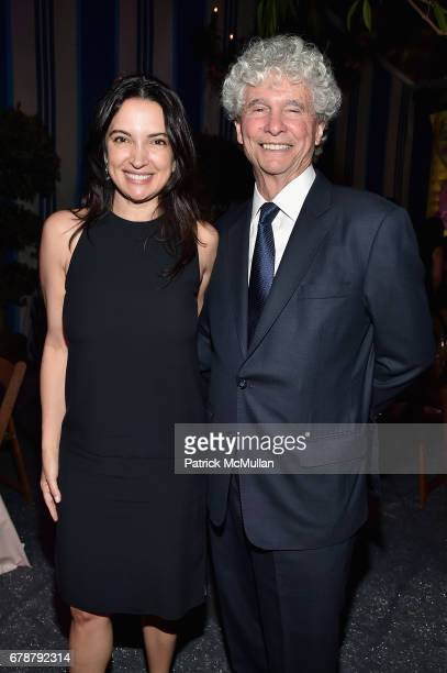 Clarice Tavares and Tom Bechara attend the Studio in a School 40th Anniversary Gala at Seagram Building Plaza on May 3 2017 in New York City