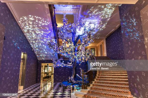 Claridge's Christmas Tree Unveiling at Claridge's Hotel on November 27 2018 in London England