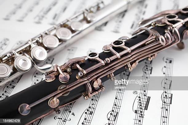 Klarinette und Flatterärmeln